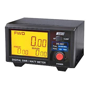 PNI Nissei DG-503 SWR 1.6-60MHz 125-525Mhz Wattmeter 0-200W Display Digital, 3.5 e quot;12V Display
