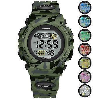Urheilu Military Kids Digitaaliset kellot, Student's Watch, Valoisa led-hälytys,