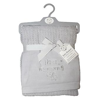 Snuggle Baby Unisex Mummy Love Cellular Embroidered Blanket