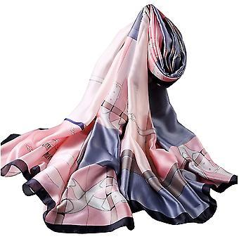 FengChun Seiden schal Damen Lange Tcher Stolen Hochwertiges Seidentuch/Seidenschal - Halstuch und