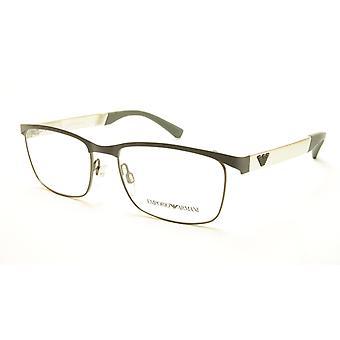 Emporio Armani EA1057 3166 Eyeglasses Frame Metal Grey Silver
