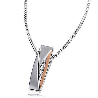 Goldmaid - Halsband för damer i sterling silver 925 med zirconia, 45 cm