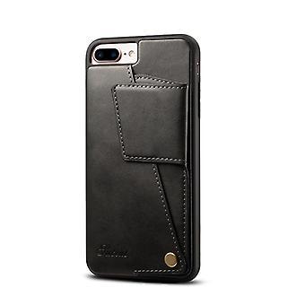 Nahkainen lompakkokorttikotelo iphone8plus musta pc3465
