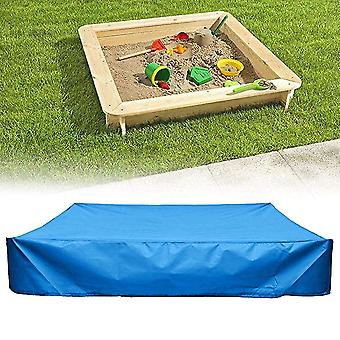 150*150Cm blue sandbox cover with drawstringsquare dust-proof beach sandbox coverwaterproof sandpit swimming pool cover x15