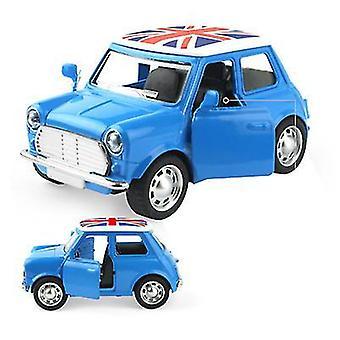 سيارة سبائك الأطفال الصغيرة الزرقاء، سيارة الكرتون نموذج لعبة سيارة az9103
