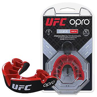 UFC Silver Mouthguard by Opro Red/Black Youths