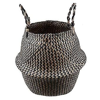 new model 9 22x20 cm seagrass natural rattan storage basket flower pot plant pot holder laundry sm17767