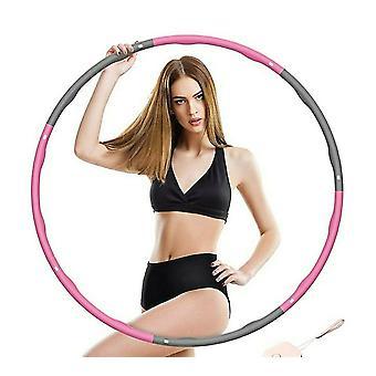 7 noduri ponderate pliabile Hula inele abdominale Exercitarea fitness hula inel pentru adulți (roz și gri)