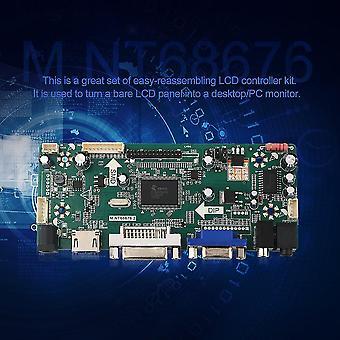 M.nt68676.2a Hdmi Dvi Vga Audio Lcd Led Screen Controller Board Kit Set