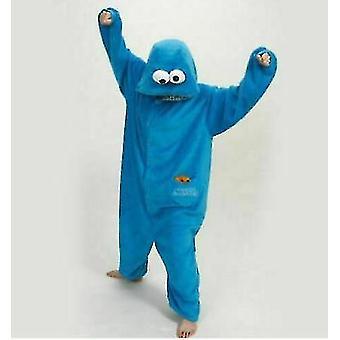 Blue Adult Blue Sesame Street Cookie Elmo Costume(XL)