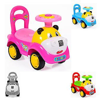 Kinderauto, Rutscher Laufhilfe Super Car lustiges Design, Melodien, Rückenlehne