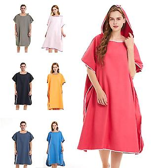 Adult microfiber towels wetsuit change robe poncho surf hooded quick dry beach outdoor towel for swimming swimsuit robe