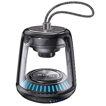 TWS drahtloser Bluetooth-Lautsprecher outdoor kreative schwarze Technologie Mini-Lautsprecher (Schwarz)