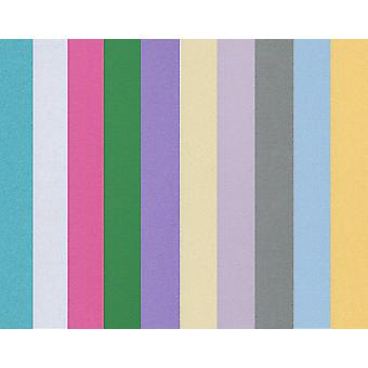 10 Assorted Colour A4 Pearl Card Sheets   Coloured Card for Crafts