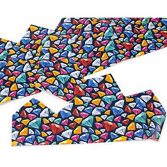 ÚLTIMOS POCOS - 25 diamantes de colores sombreros de papel ajustables para bricolaje galletas artesanías de fabricación