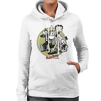 Betty Boop Vintage Circus Crew Women's Hooded Sweatshirt