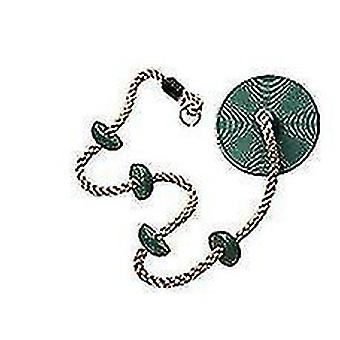 Swing Climbing Rope For Kids,climbing Rope With Platforms Disc Swing Rope(Green)