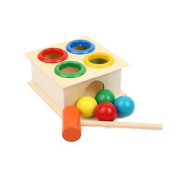 Palla di legno martellante colorata con scatola