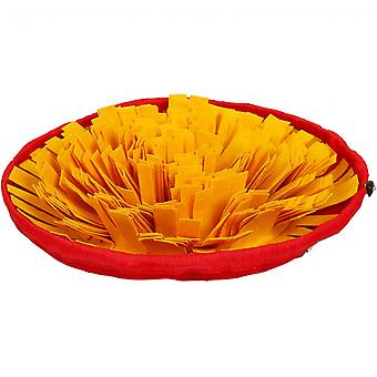 Bowl Rug For Pet Dogs And Cats Consume Energy Slow Food Puzzle Blanket Leak And Suffering Bowl (yellow)