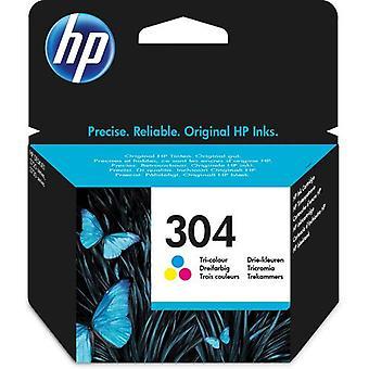 HP 304 Original Tricolor Ink Cartridge, Standard Yield, Pigment-Based Blaze