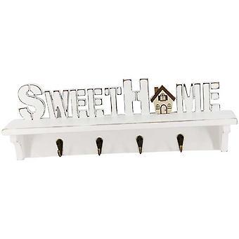 Sweet Home Decorative Wall Hanger Rail Rack for Keys/Coat/Hat/Clothes/Robe/Towel