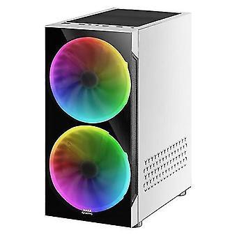 Desktop computers atx semi-tower box mc9w led rgb white