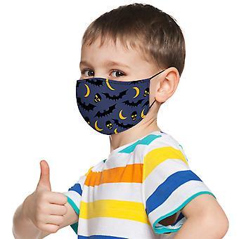 الأطفال قابل للسحب بالإضافة إلى تصفية مقاومة للرياح القطن القابلة لإعادة الاستخدام قناع المطبوعة
