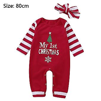 Newborn Baby Girls Boys Christmas Clothes Outfits Romper, 73cm