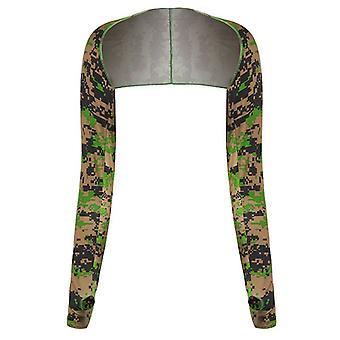 Ice Silk Schal Manschettenarmwärmer Frauen Sonnen UV Schutz Sporthandschuhe
