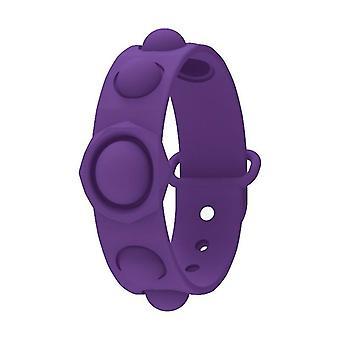 Fun Finger Bubble Musik Silikon Squeeze Sport Armband (Lila)