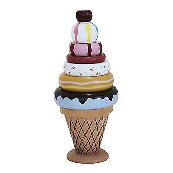 Fagylalt kúp játék készlet, Ice Cream Tower Stacking Fun Játék, Gyermek születésnapi ajándék