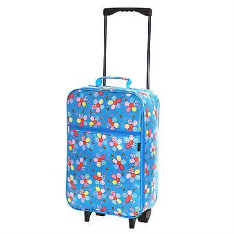 Slimbridge Barcelone enfants cabine approuvée sac, fleurs bleues