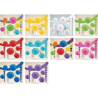 Deko-Set Decoration Kit Party Deko Dekoration 9 Teile
