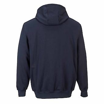 Portwest - Flamme widerstehen Sicherheit Workwear Zip Front Kapuzen Sweatshirt