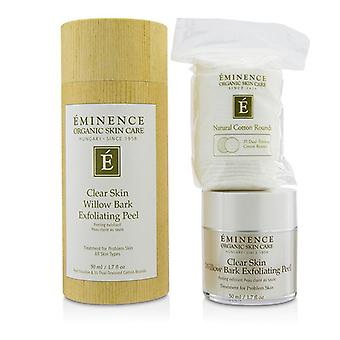 Eminence Clear Skin Willow Bark Exfoliating Peel (with 35 Dual-textured Cotton Rounds) - 50ml/1.7oz