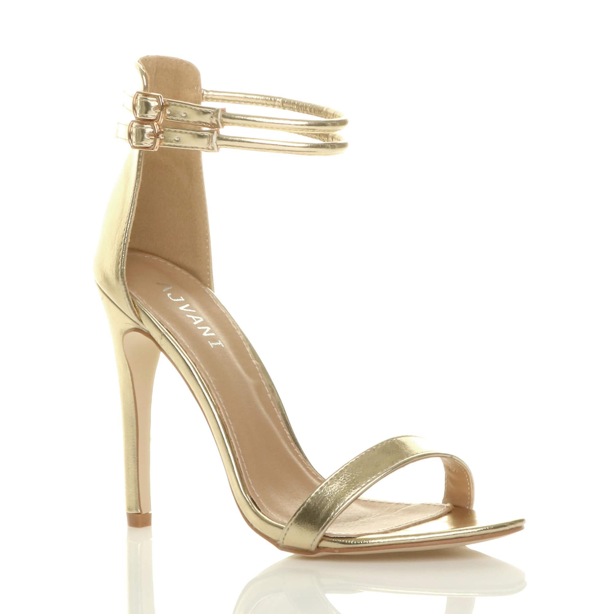 Ajvani damskie wysokie szpilki ledwo tam podwójny pasek klamra stroną sandały buty Ilaxr