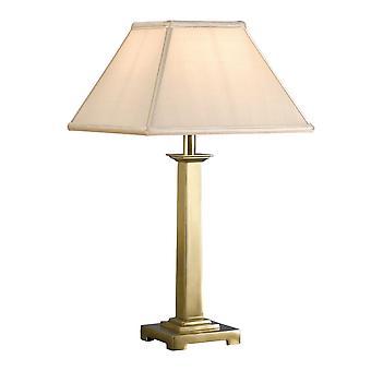 Interiors 1900 Pelham Single Licht aus massivem Messing Tisch Lampe Ba