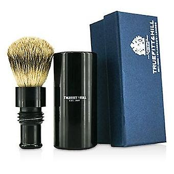 Truefitt & Hill Turnback Traveler Badger Hair Shave Brush - # Ebony - 1pc