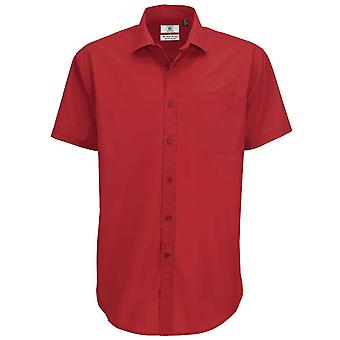 B&C Collection Mens Smart Short Sleeve Work Shirt