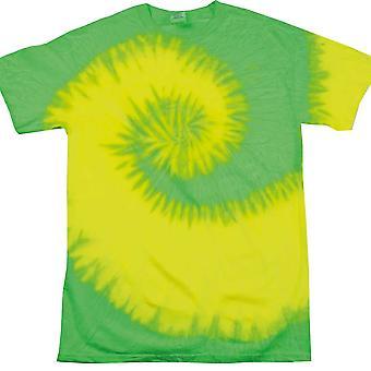 Colourtone Mens Rainbow Tie-Dye T Shirt