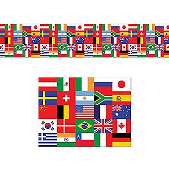 Bannière de décoration Poly drapeau international