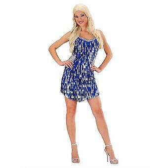Paljett klänning - blå/Silver