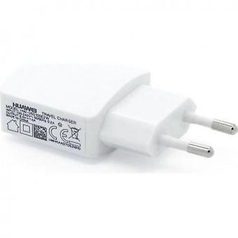 Adaptador de alimentação Huawei HW-050100E2W sobre o branco de carregador de viagem USB
