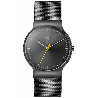 Braun Mens Classic Slim Steel Mesh With Grey Dial BN0211TIMHG Watch