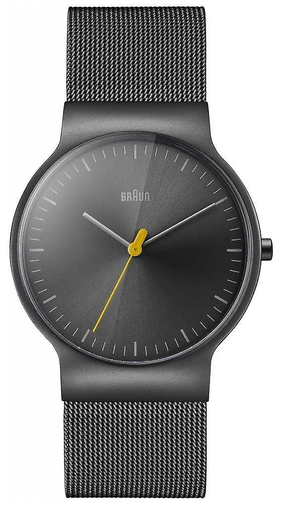 Braun Mens Classic Slim Steel Mesh With Grey Dial BN0211TIMHG Watch