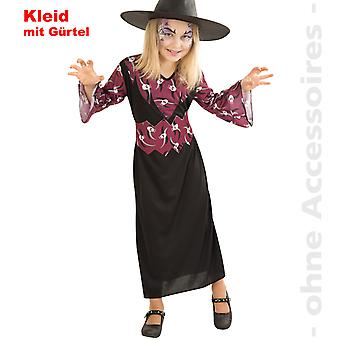 Witch costume witch dress children skull sorceress child costume