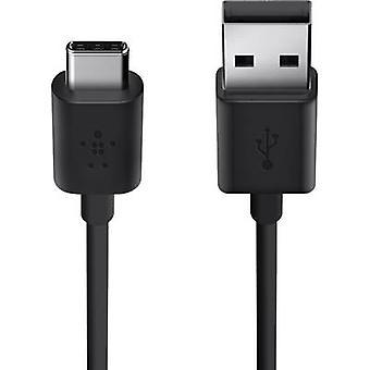 Belkin USB 2.0 Kabel [1 USB 2.0 Stecker A - 1 X USB-C Stecker] 1,8 m schwarz schwer entflammbar