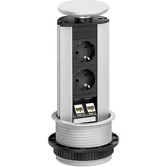 EVOline 93100314 Socket tower 2x Black, Silver PG connector 1 pc(s)