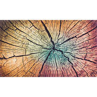 vask + tør mat træ jord vaskbart tæppe