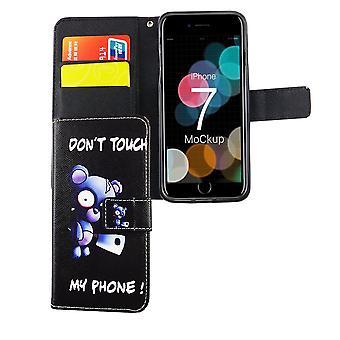 Não toque meu telefone urso celular caso Apple iPhone iPhone 7 8 preto